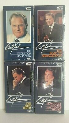 Lot of 4 NEW/SEALED Billy Graham - The Secret Of Happiness (PLUS 3 more!)