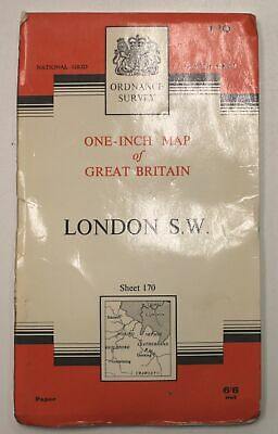 ORDNANCE SURVEY 7th Series - 1 Inch Map of Great Britain - London SW - F16