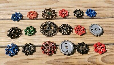 18 Vintage Antique Water Faucet Knob Valves Handle Steampunk Industrial Arts