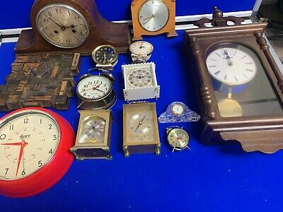 House Clearance Vintage Clocks Collectable Wall Desk Joblot