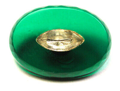 BB Vintage Precision Inlay Oval Glass Button w Diamond Detail 5/8""