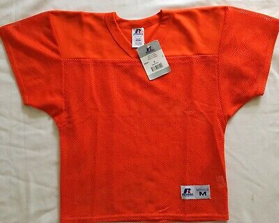 New Russell Athletic Youth Practice Mesh Football Jersey VNeck Medium Gold