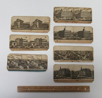 (7) 1800's Homemade Stereoviews Pabst Beer Brewery Milwaukee WI Wisconsin wz8767