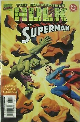 Marvel & DC (1999) INCREDIBLE HULK vs SUPERMAN one-shot! STEVE RUDE!