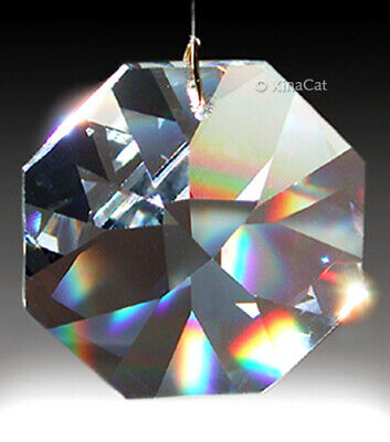 4 pcs Swaroski 8015-18mm Austrian Crystal Octagon Prism Bead Pendants