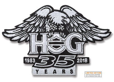 Hog 35Th Anniversary Winged Eagle Vest Patch Harley Davidson Owners Group Sm