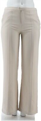 H Halston Stretch Suiting Wide Leg Pants Stone 6 NEW A301958