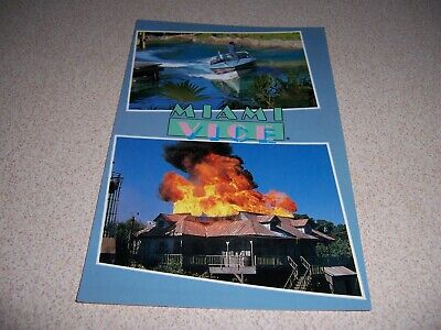 1980s MIAMI VICE TV SHOW, UNIVERSAL STUDIOS HOLLYWOOD VTG POSTCARD