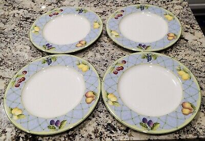 SET of 4 ~ Mikasa Optima  Fruit Rapture Dinner Plates Y4001