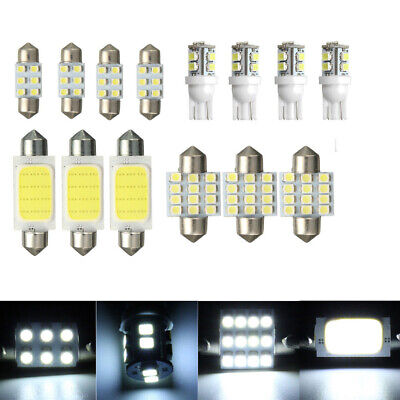 14x LED Light Car Interior Package Kit T10 & 31mm Map Dome + License Plate Lamp