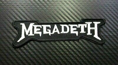 MEGADETH ROCK MUSIC HEAVY WOVEN METAL BADGE Embroidered Patch Iron On Sew Logo