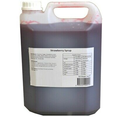 Strawberry Syrup Concentrate Puree for Bubble Tea 5 Liter