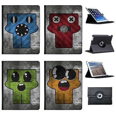 Azzumo Grunge Monsters Faux Leather Case Cover / Folio for the Apple iPad