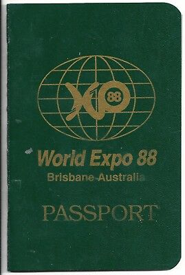 Brisbane World Expo 88 PASSPORT Unused VINTAGE RARE