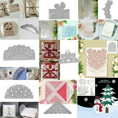 Xmas Flower Lace Metal Cutting Dies Stencil for Scrapbooking Embossing Paper DIY