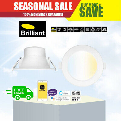 BRILLIANT 9 Watt 90mm Cut Out Dimmable SMART LED Downlight