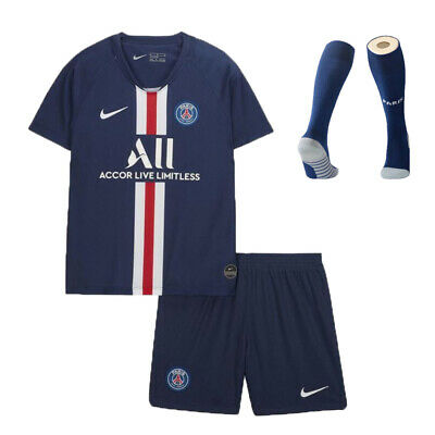 PSG 19/20 Kids Boys Football Full Kit Youth Adult Jersey Soccer Sports Outfit