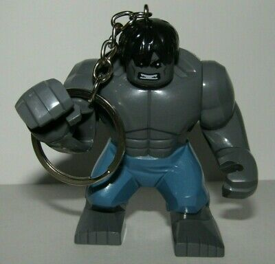 Keychain Hulk Grey - See scale with minifigure lego - OF THE AVENGERS - C3
