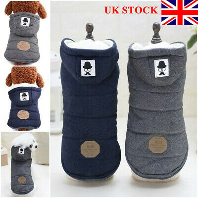 Pet Winter Warm Coat Jacket Small Dog Puppy Hoodie Thick Jumper Apparel Clothes