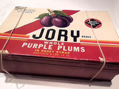 CRATE LABEL VINTAGE PLUMS DICK JANE EMMETT IDAHO SANDY SUE ORIGINAL 1950S