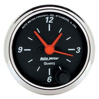 AutoMeter 1484 Designer Black Quartz Clock Gauge, 2-1/16 Inch