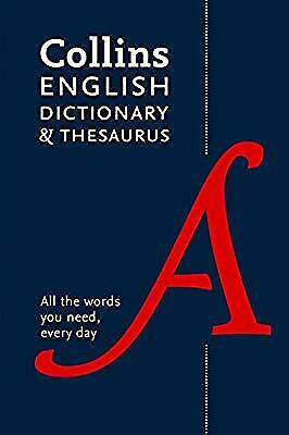 Collins English Dictionary and Thesaurus Paperback edition: All-in-one support f