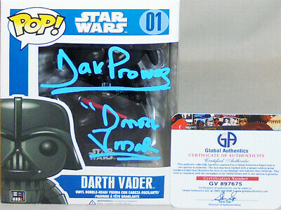 Rare -Star Wars- David Prowse Certified Signed/Autograph Darth Vader Funko POP