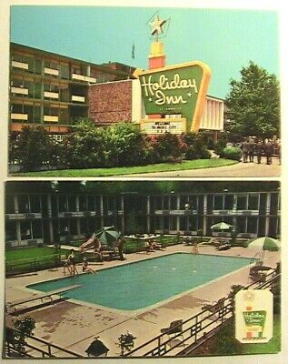 Nashville TN 2 Diff Holiday Inn Location Postcards Capitol Hill & Trinity Lane