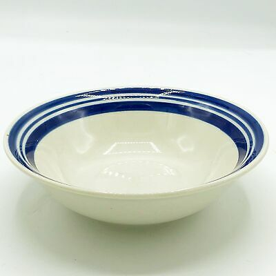 Philippe Richard Diner Story Blue Ring Cereal Soup Bowl