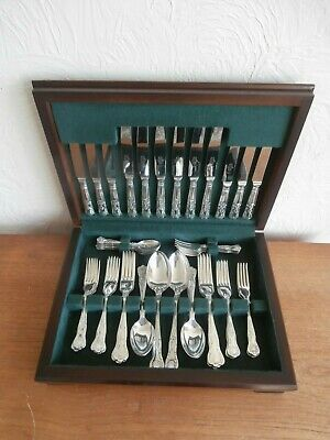 Silver Plate Cutlery Canteen 50 Piece 6 Cover Kings Pattern Sheffield A1 Aristom