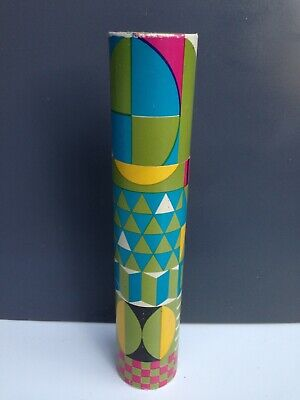 "Vintage 11"" MCM Psychedelic Long Stick Fireplace Barbecue Safety Match Box"