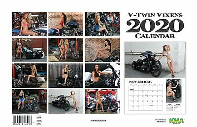 2020 V-TWIN VIXENS WALL CALENDAR Dream Girls w/ Harley-Davidson motorcycles