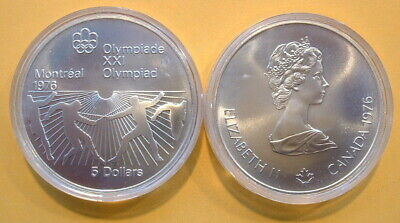 CANADA 1976 OLYMPIC $5 SILVER COIN *No 22**