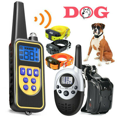 Dog Shock Collar With Waterproof Electric Remote For Large 880 Yard Pet Training