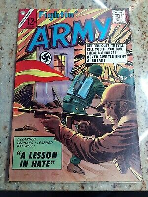 "Fightin' Army #61 ""A Lesson In Hate"" Charlton Comics Silver Age Comic Book 1965"