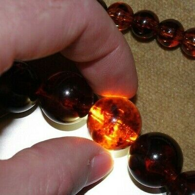 Beautiful Old Vintage Genuine Baltic Amber Necklace - 70 Grammes