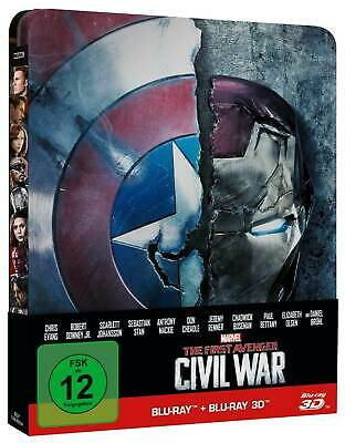 3D The First Avenger - Civil War - Limited Steelbook - 3D Blu-Ray - Blu-Ray Neu