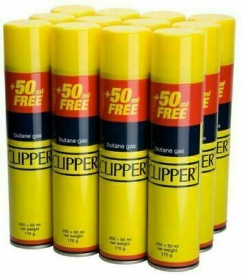 GENUINE Quality CLIPPER Universal Gas Butane Refill For All Lighters Flint 300ML