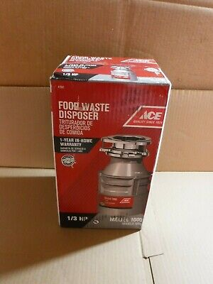 New In Box Ace Food Waste Garbage Disposer Model 1000 1/3 HP