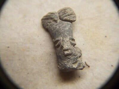 RARE Pre Columbian  500AD TO 1000AD CLAY  FIGURE HEAD LOT #12