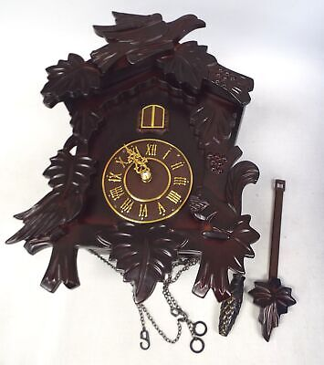 Battery Operated CUCKOO CLOCK Wooden & Plastic - Spares/Repairs - D33