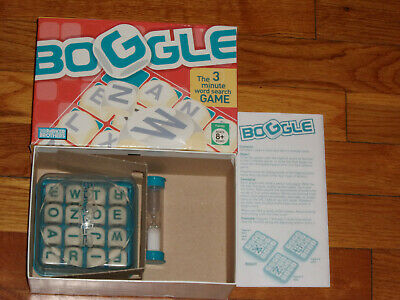 2005 Parker Brothers Boggle 3-Minute Word Game Complete in Box Excellent Cond.