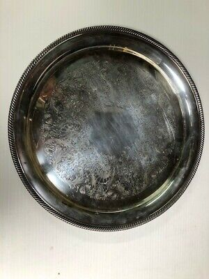 Vintage Silver Plated Serving Tray Castleton International Silver Company 14""
