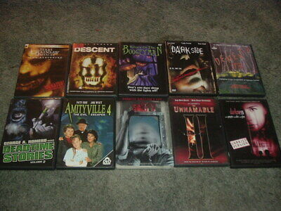 10 DVD Horror Lot Dementia 13, Deadtime Stories, Darkness, Texas Chainsaw, +More