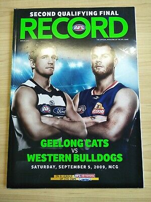 2009 Second Qualifying Final Football Record Geelong v Western Bulldogs