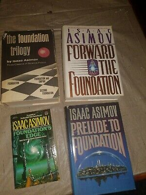 4 Isaac Asimov Mixed Lot The Foundation Trilogy, Forward the Foundation..free sh