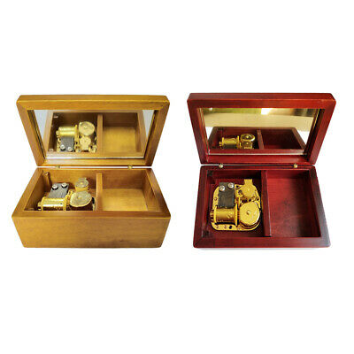 Wooden Jewelry Music Box Retro Exquisite Art Crafts Decor Festive Gift