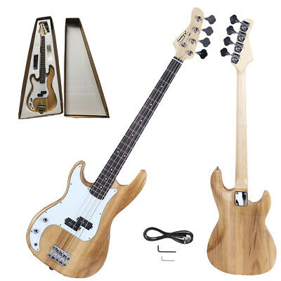 "Glarry 34"" GP Left-Hand Electric Bass Guitar Beginner Pack Accessories Wood"