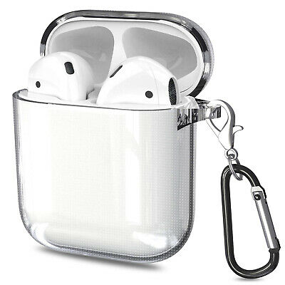 For Apple Airpods 1/2 Case Clear Case Earphones TPU Case Cover UK