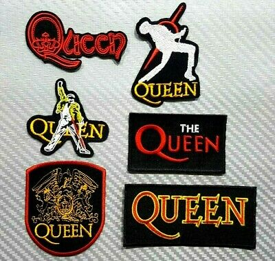 QUEEN WOVEN MUSIC HEAVY METAL ROCK BAND PUNK POP Embroidered Patch Iron Sew Logo